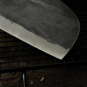 Image 5 - XYj El Yapımı Dövme Çin Kasap Mutfak Bıçağı Yüksek Karbon Çelik Şef bıçağı Kemik Kıyıcı Tam Tang Kolu Bıçak ve Hediye kılıf