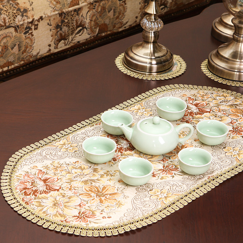 European Embroidery placemats dining table place mats placemat cup coaster mug kitchen drink glass table place mat cloth lace