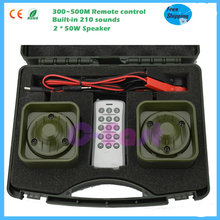 300 - 500M remote controller 12V power 210 sounds 2 speakers 50W bird hunting equipment bird caller hunting duck sound decoy