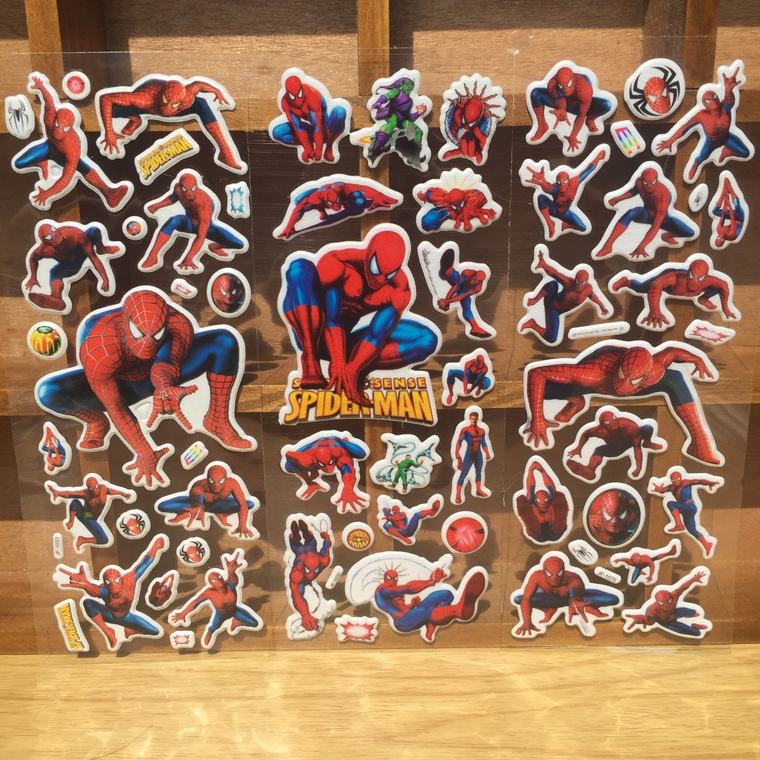 25pcs spider man foam sticker kids happy birthday party supply gift for boy baby shower decoration party favor return gift