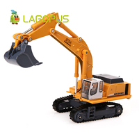 lagopus 1:87 Crawler Excavator Metal Zinc Alloy ABS Mini Construction Engineering Vehicles Car Toy Mini Gift Cars for Kids