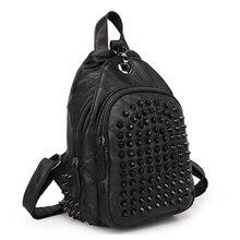 Мода Натуральной кожи женские баотоу слой объединившись рюкзак панк рюкзак красочные сумки