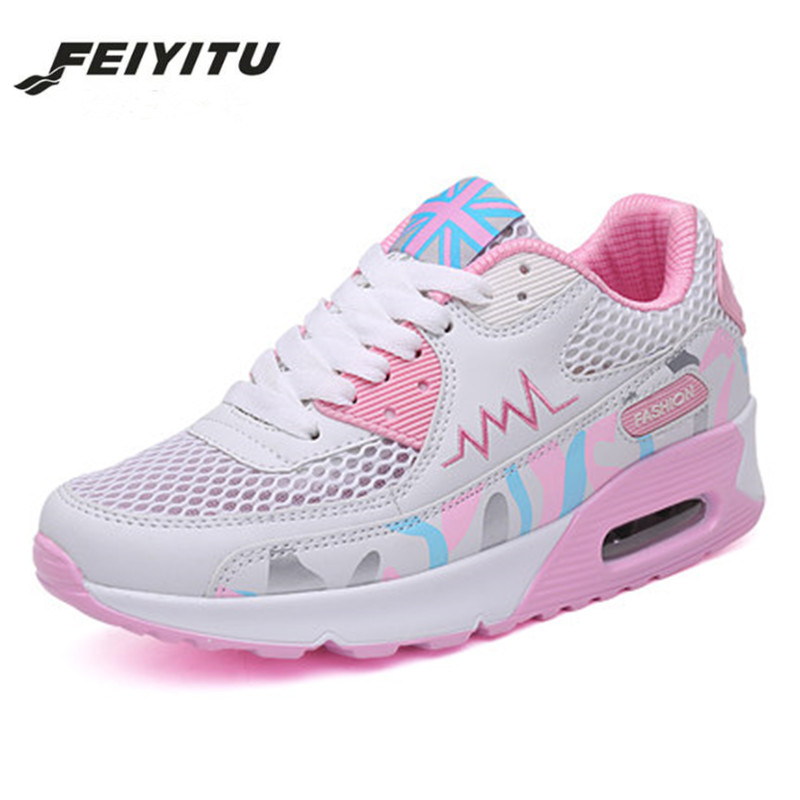 FeiYiTu Fashion Korean Women Shoes Breathable Woven Casual Spring Summer Sneakers Female Platform Chaussure Fem