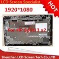 3 unids/lote Para HP Split X2 13 Pantalla LCD 1920*1080 B133HAN02.3 & Touch Digitalizador Asamblea con marco 100% de prueba
