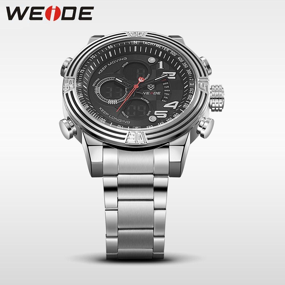 Weide reloj de pulsera deportivo de cuarzo de lujo, moda y casual, - Relojes para hombres - foto 3