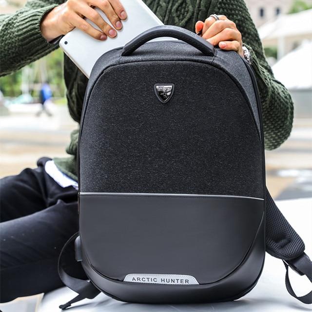 458949dea0 ARCTIC HUNTER brand men backpack anti theft USB charging 15 inch Laptop bag  Business Travel Casual Back pack bag Women mochilas