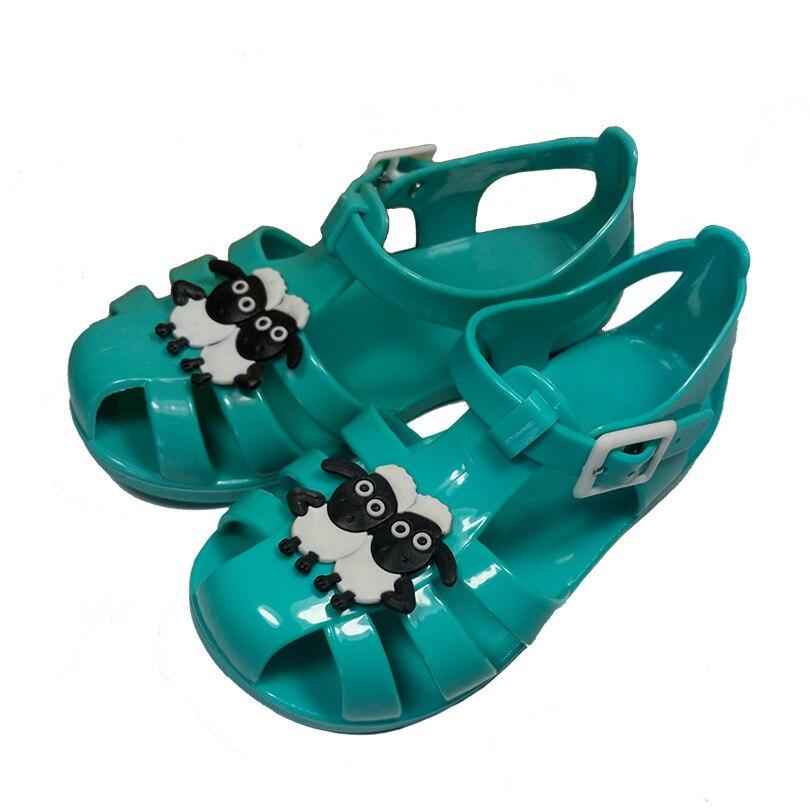 Летний стиль детские сандалии мини босоножки из прозрачного пластика мягкая подошва Нескользящие милые овечки Grils обувь Бесплатная достав...