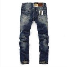 Мода Dsel Дизайнерские джинсы мужчины Известный Бренд Рваные джинсы Хлопок Джинсы Мужчин Случайные Штаны печатных джинсы, C9003