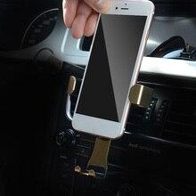 Фотография NANUM New Gravity Vehicle Mobile Phone Bracket Gravity Linkage Outlet Car Bracket Car Phone Bracket 3 Colors