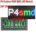 P4 Открытый RGB СВЕТОДИОДНЫЙ Модуль 256*128 мм 64*32 пикселей RGB СВЕТОДИОДНЫЙ дисплей Прокрутки сообщение ПРИВЕЛО знак 1/8 P4 СВЕТОДИОДНЫЙ модуль 2 шт./лот