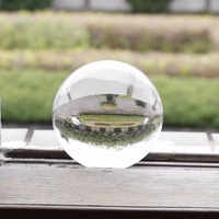 100mm Clear Round Glass Artificial Crystal Healing Ball Sphere Decoration