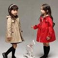 2017 otoño windbreaker de la capa para las muchachas de los niños chaquetas trinchera windcheater topolino bunker casacos roupas meninas infantis