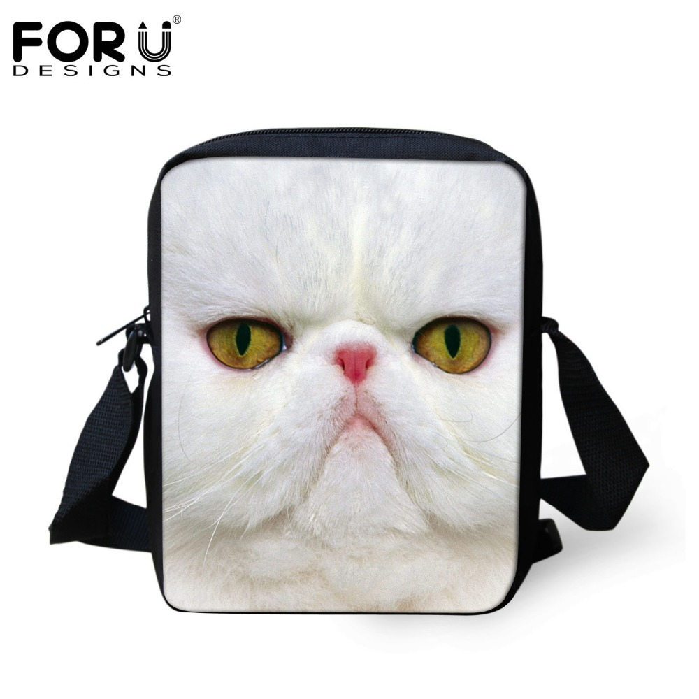FORUDESIGNS Vintage 3D Printing School Bags For Children Kids Girls Cute Animal Cat Small Book Bags Baby Schoolbags Mochila 2017