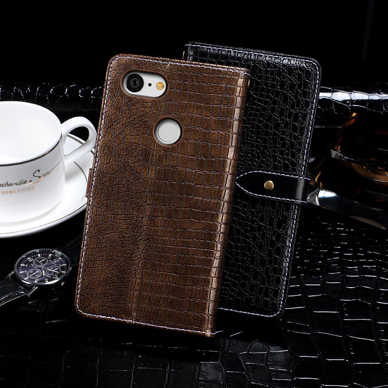 Crocodile Design Wallet Leather Cover For HTC Google Pixel 3 Filp Holster Skin For HTC Google Pixel 3 Business Style Case