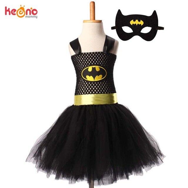 סופרמן באטמן בנות טוטו שמלה עם מסכת גיבור בהשראת תינוק תלבושות ילדים קוספליי חג מולד ליל כל הקדושים טוטו שמלה
