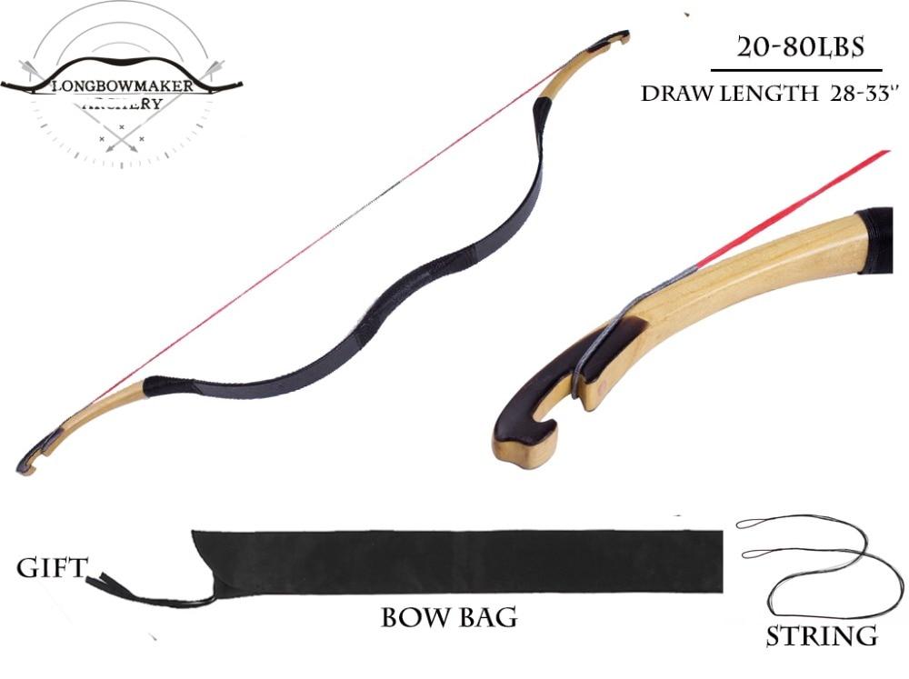 LongbowMaker 20-80 lbs Ali Bow Black Cow Leather With Ox horn Traditional Handmade KaiYuan bow Longbow Archery Hunting Horsebow longbowmaker black shadow korean style korean bow 15 60lbs maple laminated longbow horsebow