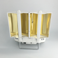 Antenna Range Booster Extender Copper Signal Amplifier for Phantom 3 Phantom 4 Inspire1 Enhanced with Copper Colored Reflector