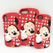 Minnie Cover For iPhone 6 Case 8 Plus 7 Plus 6 6S 5S SE For Fundas iPhone XS Cases 3D Cute Soft Silicone Phone For iPhone X Case for iphone 6s case for iphone 6 macaron phone bag cases silicone case for iphone 5 5s se 6 6s 7 8 plus case cover for iphone 6