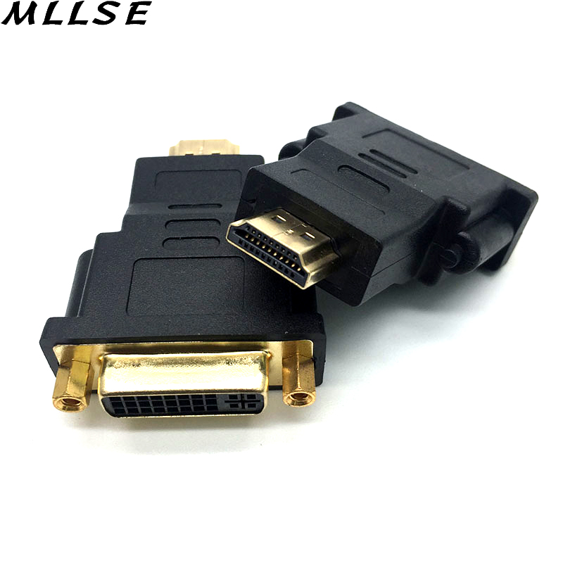 MLLSE 1 1080P Gold Plated DVI 24+5 Male to HDMI Female Converter HDMI to DVI Adapter Conveter for HDTV LCD Computer Projector ...