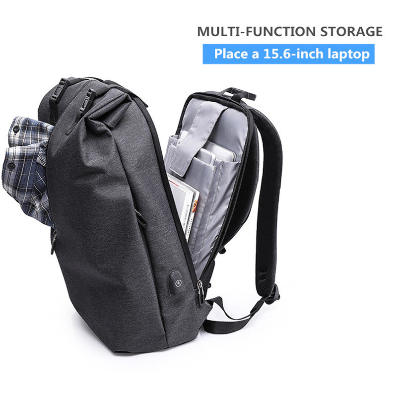Backpack Men 15 6 inch Oxford USB charging Anti Theft Waterproof Travel Laptop Backpack For Male Backpack School boy Fashion NEW in Backpacks from Luggage Bags