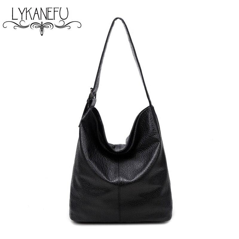 LYKANEFU European Style LargeTote Bag 2017 Luxury Women Shoulder Bags Fashion Women Bag Ladies Brand Handbag Hobo Bolsa Feminina