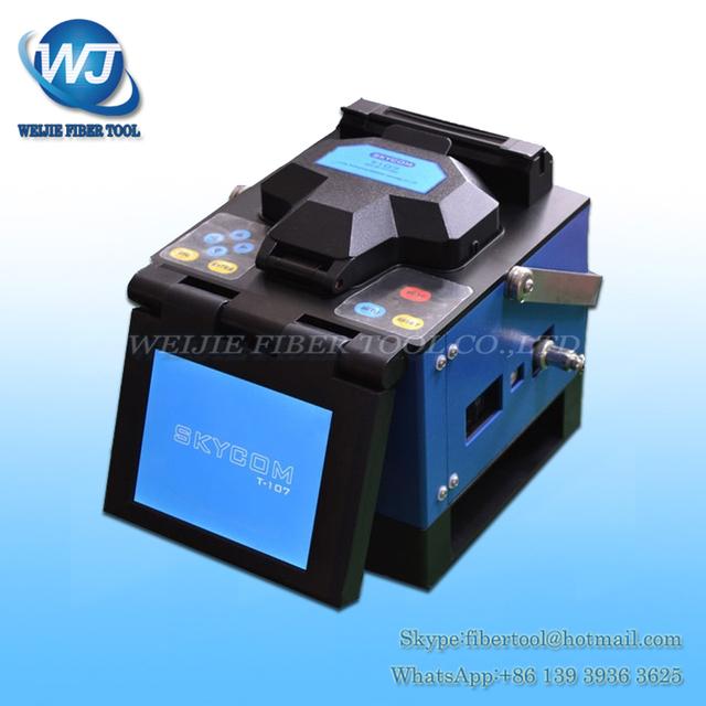 SKYCOM T-107H máquina Fusionadora De Fibra Óptica de Empalme De Fibra FTTH CATV telecom skycom T107H Fusionadora