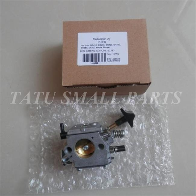 CARBURETOR FOR BRUSH CUTTER  BR420 BR400 BR340 BR320 SR420 SR400 SR340 FREE SHIPPING STRIMMER CARB   P/N 4203 120 0601 givenchy g42 4203 g42 4203