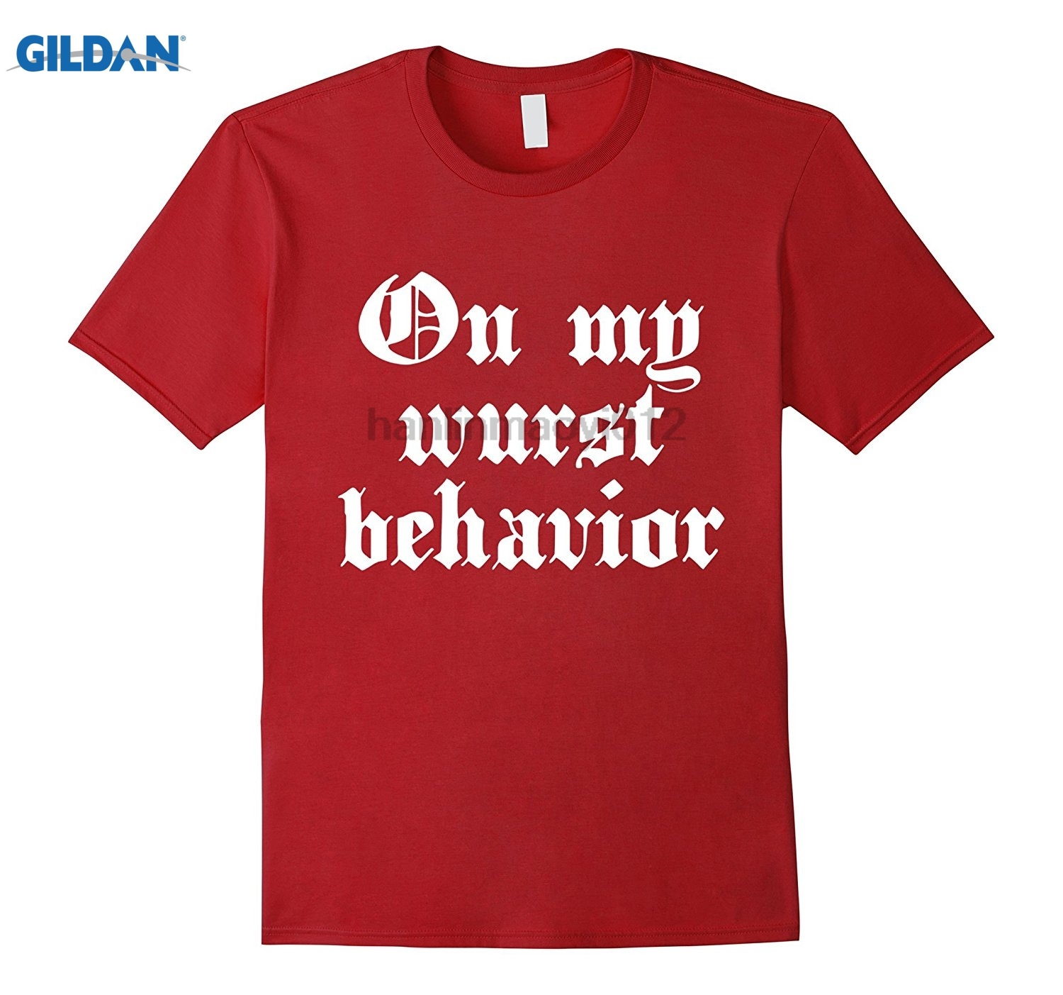 GILDAN Funny Oktoberfest T-shirt, On My Wurst Behavior Dress female T-shirt