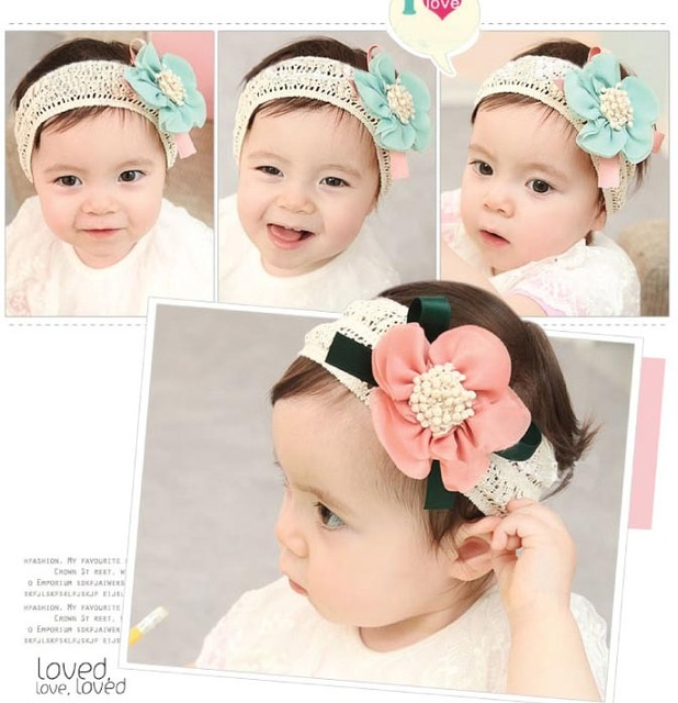 Girls Sweet chiffon Flower Headwear, headband for baby girls hair decoration Lace Hair Band, flower Baby headband Hairband