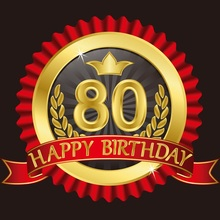 Laeacco Photography Backdrops Happy 80th Birthday Party Love Banner Portrait Photographic Backgrounds Photocall For Photo Studio