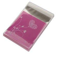 5 Paket MYLB-100pcs handtasche Lila HERZ Tasche von Süßigkeiten Kekse Geschenk