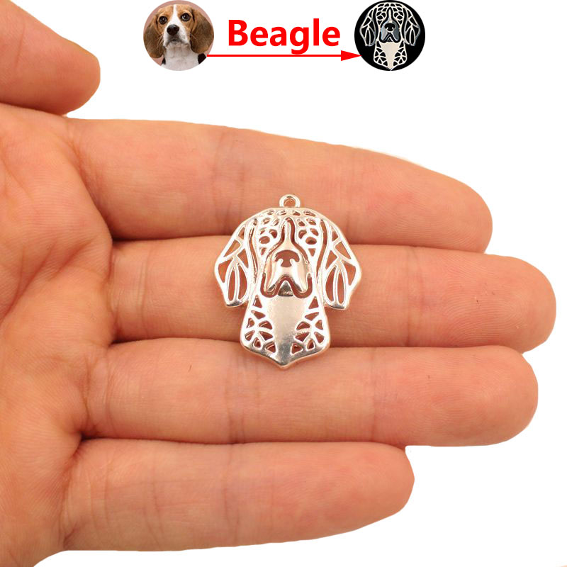2018 Beagle Dog Animal Pendant Necklace Gold Silver Plated Jewelry For Women Male Female Girls Ladies Punk Cute N170