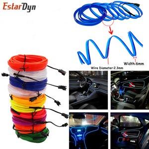 Neon Light 6mm Sewing Edge EL Wire Led Dance Party Decor Car Lights Neon LED lamp Flexible 2.3MM Rope Tube LED Strip 3V/5V/12V