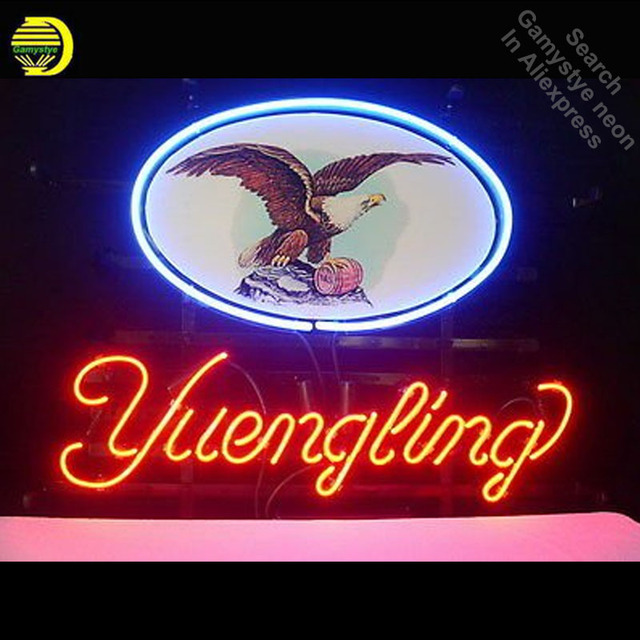 Neon Sign for Yueng Eagle Neon Bulb sign handcraft Paint Signboard Real Glass tube Dropshipping personalized neon bar lights