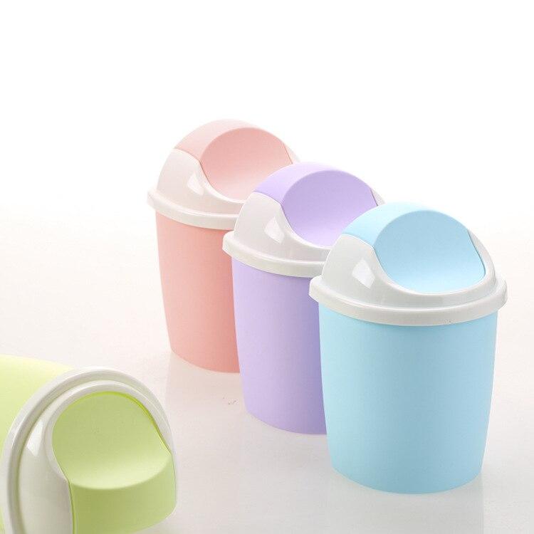 1 шт. офисные Кухня флип Пластик мусорный бак мусора Мусор корзина лома корзины контейнер j0731 ...