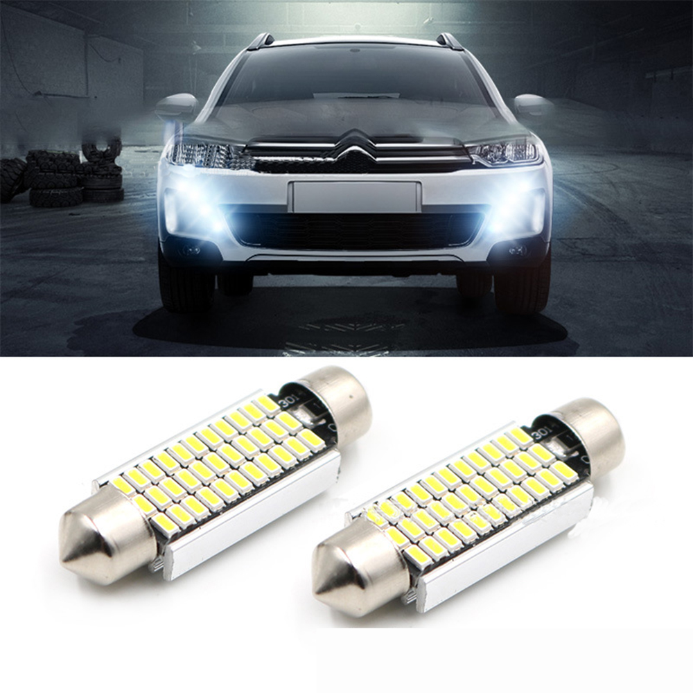 CQD-Light 2PCS Festoon led Dome C5W 31mm 36mm 39mm 41mm 3014 33SMD LED Canbus Reading light Luggage Bulb source