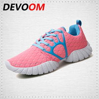 DEVOOM New Fashion Shoes Woman Breathable Mesh Women Flats Walking Super Light Girls Summer Casual Shoes