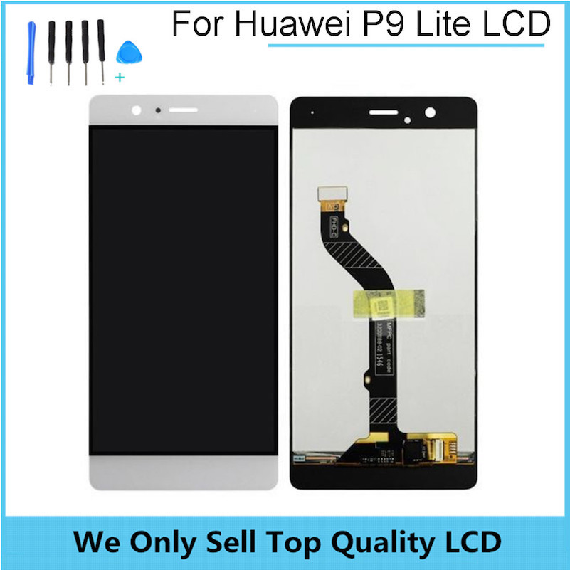 Replacement LCD for HUAWEI Ascend P9 Lite Display Screen with Touch Screen Digitizer Assembly Parts Free Shipping with Tools brand new lcd display touch screen digitizer assembly for huawei ascend p8 lite replacement parts