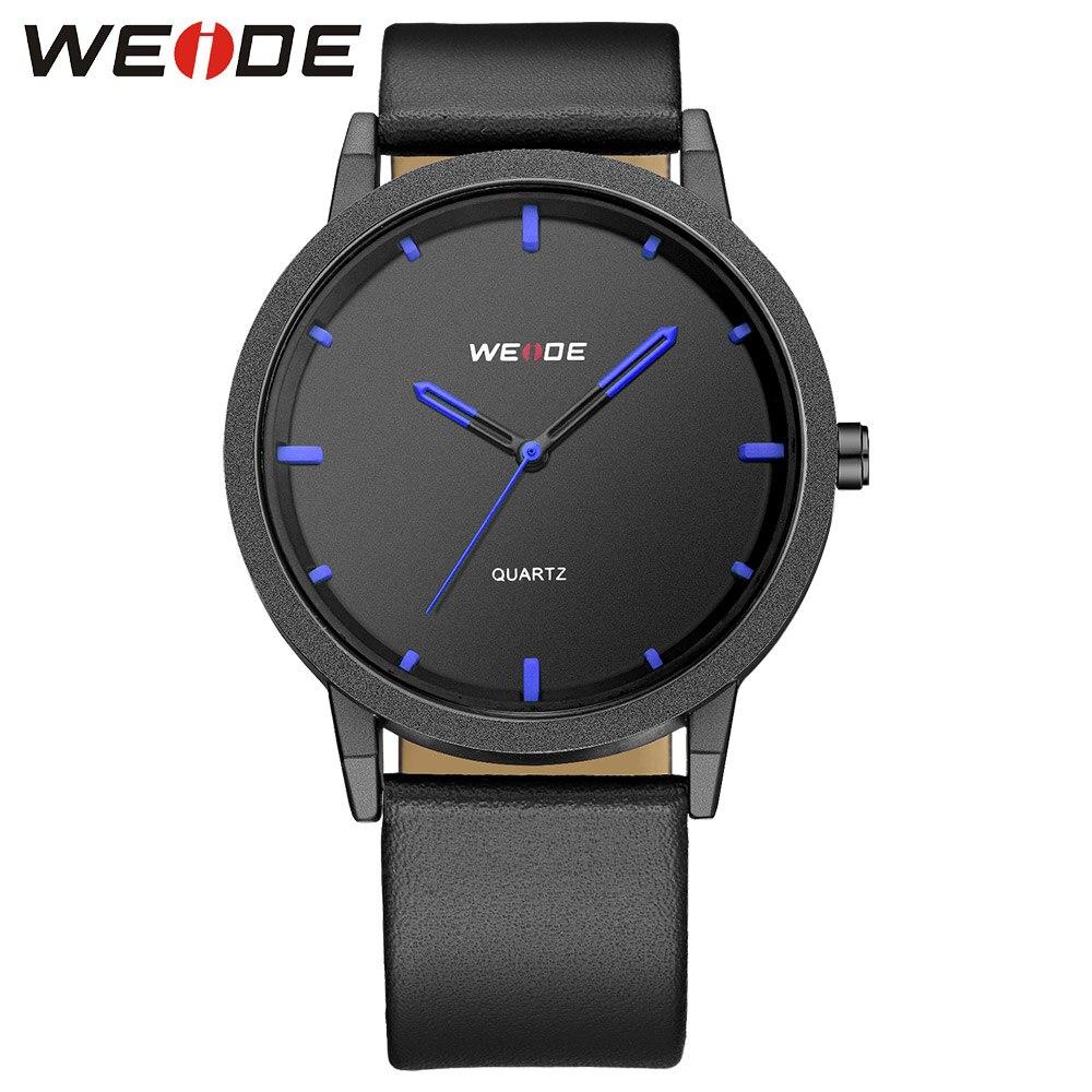 WEIDE кожа для мужчин часы лучший бренд класса люкс Аналоговый кварцевые мужские часы водостойкий оригинальные часы водонепроница