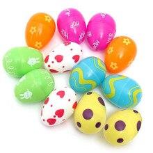 Krásná dekorační plastová vajíčka-s potiskem, otevírající 12 ks