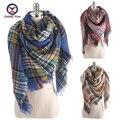 2016 Европейский Моды классический плед женщин подражать кашемир Зима 140*140 см шали Шарф дамы шарфы женские большие обертывания Z1708