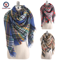2016 European Fashion classic plaid women imitate cashmere Winter 140*140 cm shawls Scarf ladies scarves women's big wraps Z1708
