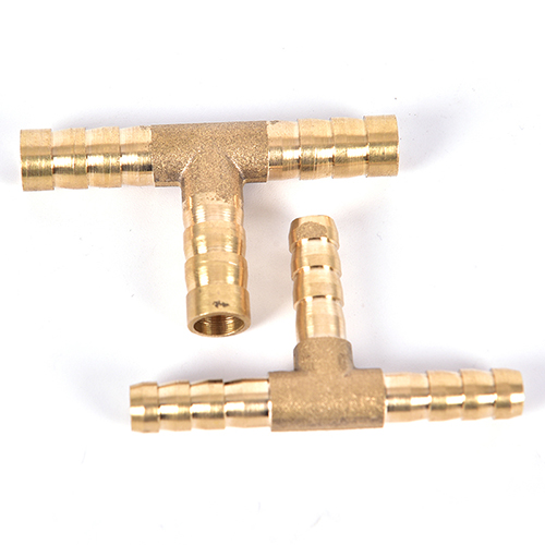 T-Shape Brass Tee Barb Hose Fittings 6mm 8mm 10mm 12mm 3 Way Hose Tube Barb Copper Barbed Coupling