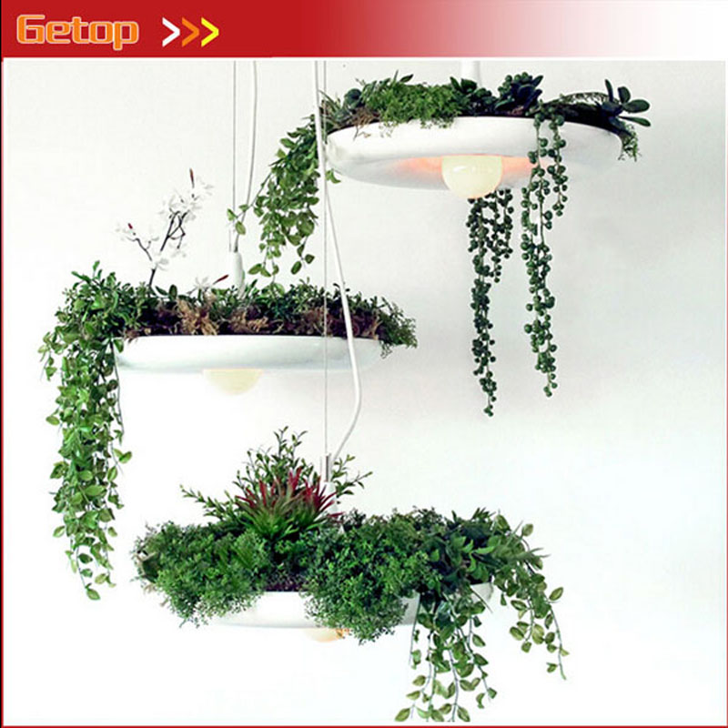 Creative Art Hanging Garden Pendant Lamp E27 LED Plant Pot Lighting Balcony Dining Room Living Room Lamp Free Shipping gilbert e big magic creative living beyond fear