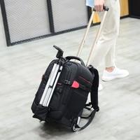 Draw bar box Professional Large Capacity Camera Bag Multi functional Photography Bag Backpack