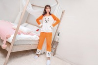 kpop Bangtan Boys Korean RM LY Kawaii Cartoon Soft Pajamas Sleepwear kpop RJ CHIMMY TATA COOKY Flannel Tracksuit Set