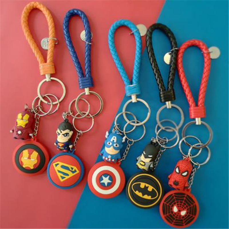 Avengers: Endgame Cosplay Keychain Character Props Arms Spider-Man Captain America's Shield Stereoscopic Soft Glue Gift Pendant