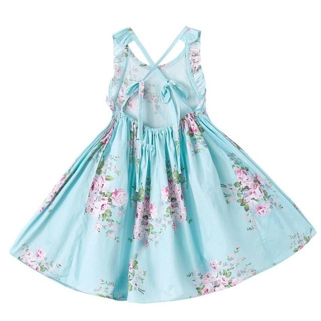 1da90c71835f 2018 Summer Children's Dress Beach Floral Kids Dresses for Baby Girls Dress  Teen Cotton Vestido Infantil Princess Infant Party