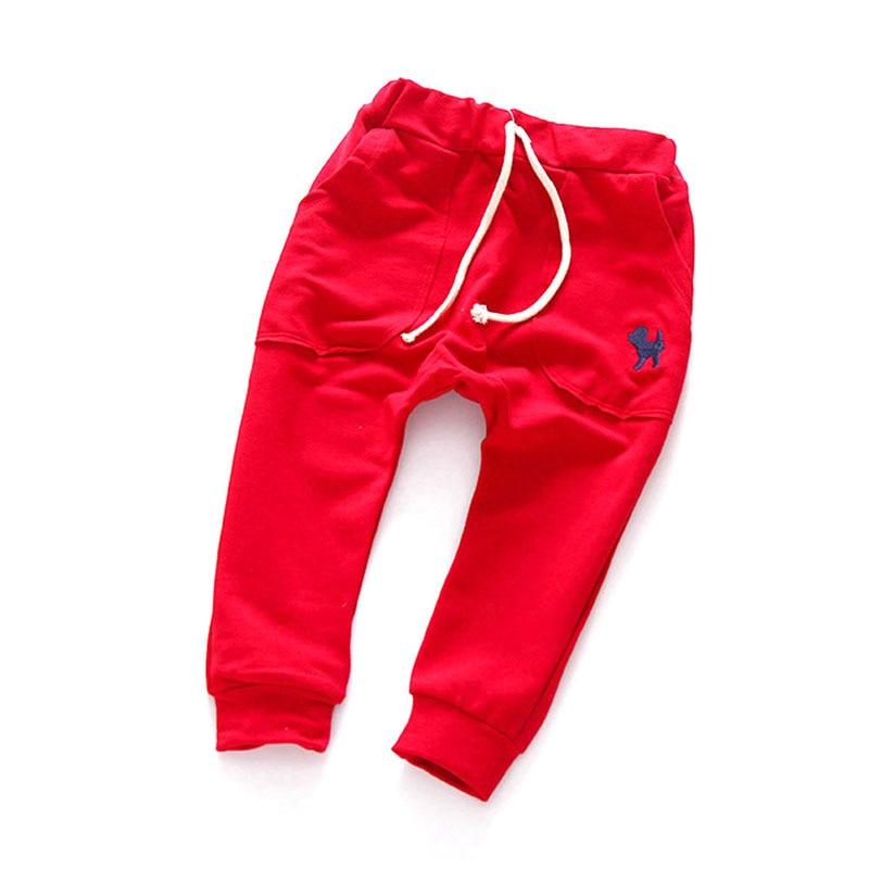 Fashion Boys Long Pants Kids Toddler Cotton Mid Elastic Harlan Trousers Solid Color Pants spring autumn mid elastic harlan trousers solid kids legging fashion boys girls long pants kids toddler 100% cotton