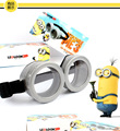 2017 best selling God steal dads minions Glasses props Mini corps Glasses Children 's toys small beans Anime show props 14cm